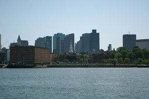 Boston depuis le ferry